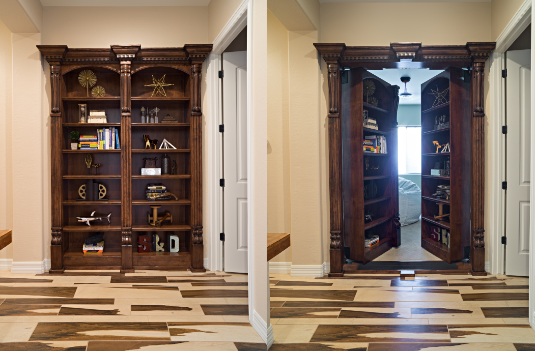 Double Bookcase Door